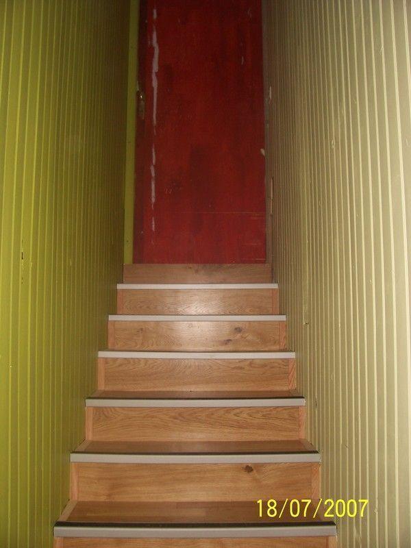 Habillage de la monte descalier