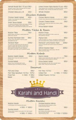 Lord Of Food Lahore Menu Card 2