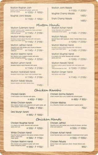 Lord Of Food Lahore Menu Card 3