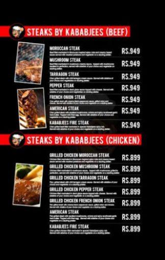 Kababjees Restaurant Do Darya Menu 7