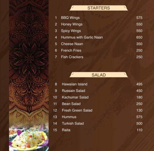 Tandoori Restaurant Complete Menu 1