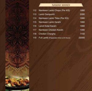 Tandoori Restaurant Tandoori Items Menu