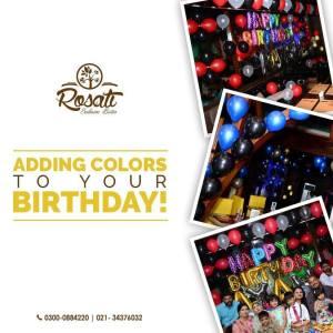 Rosati Bistro Karachi Birthday