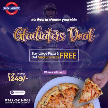 Bricklane Pizza Gladiator Deal