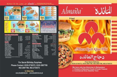 Almaida Menu Pricess