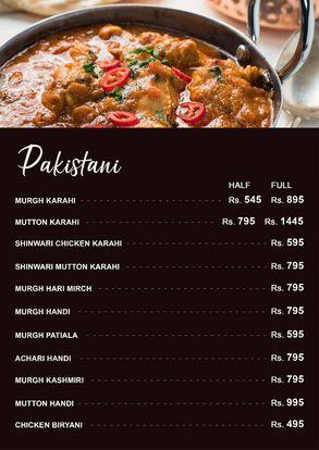 City Cafe & Grill Menu Price Pakistani