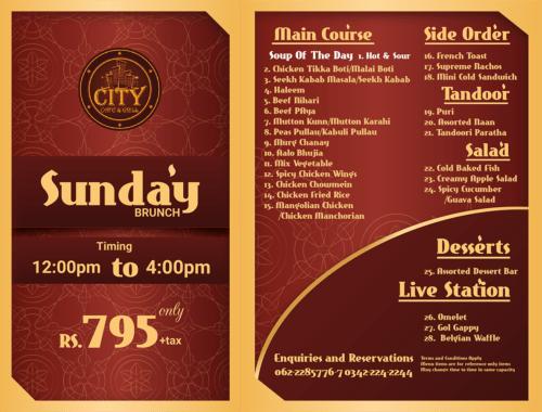 City Cafe & Grill Sunday Brunch
