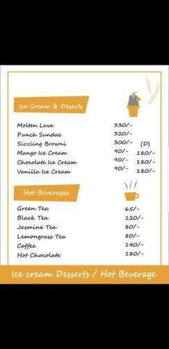 Food Punch Menu Prices icecream