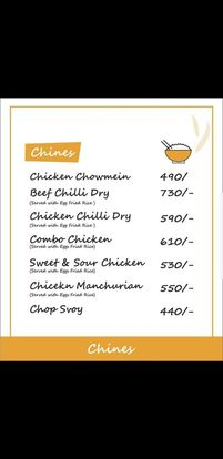 Food Punch Menu Prices