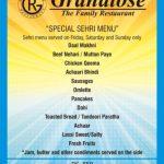 Grandiose Restaurant Sialkot Iftar Menu