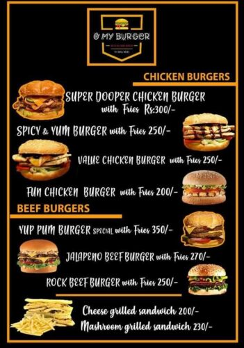 O My Burger menu