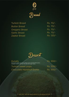 Zeytin Restaurant Menu Prices12