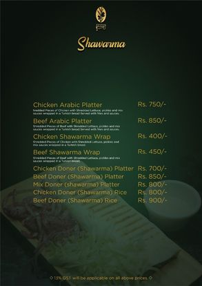 Zeytin Restaurant Menu Prices9