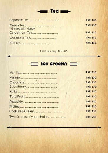 Cafe Ostyria Mall Road Lahore Ice Cream