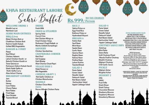 Khiva Restaurant Sehri Buffet