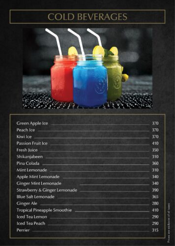 Bella vita Cold Drinks