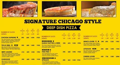 The Cheese factor menu