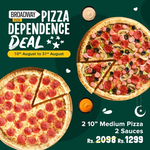 broadway pizza deal