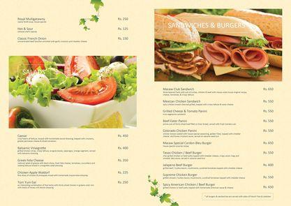 Cafe Macaw Bahria Enclave menu images