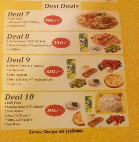 Jeegos menu cardJeegos menu card