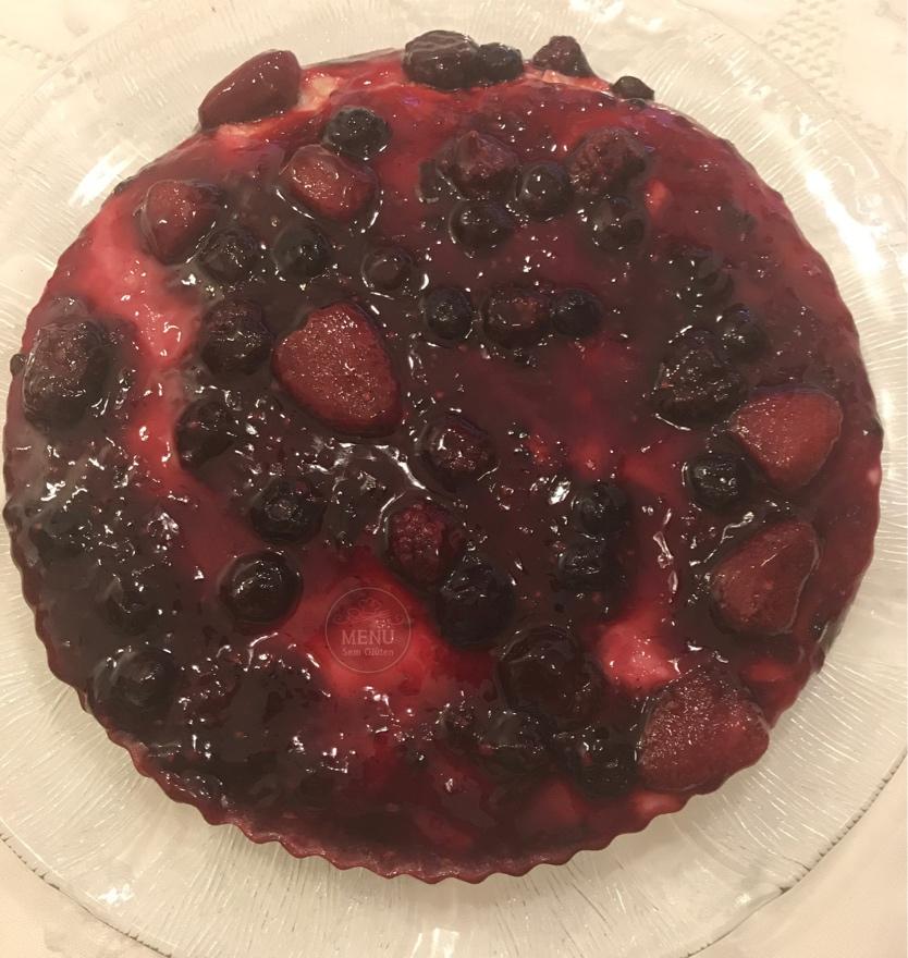 torta frutas vermelhas sem glúten