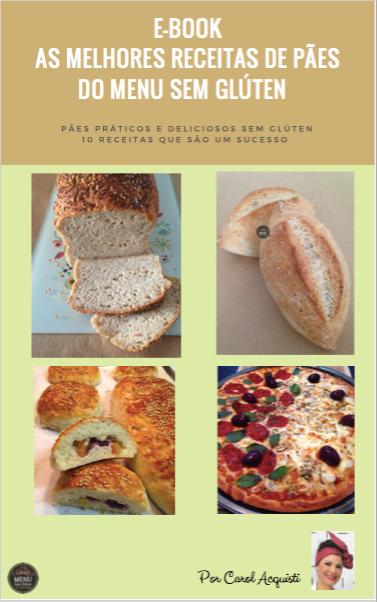 E-Book melhores receitas de pães do Menu sem Glúten