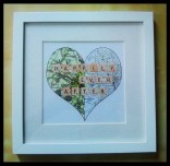Personalised Map Heart.