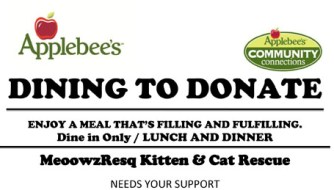 dining to donate applebees fundraiser