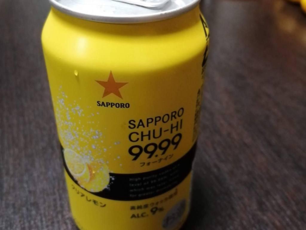 サッポロチューハイ99.99(フォーナイン)クリアレモンのパッケージ