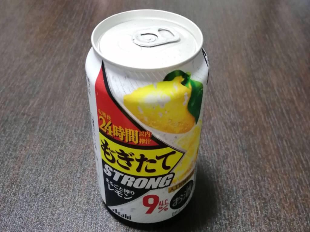 アサヒもぎたてSTRONGまるごと搾りレモン