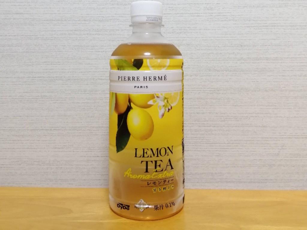 ダイドーピエール・エルメ×贅沢香茶レモンティーのパッケージ