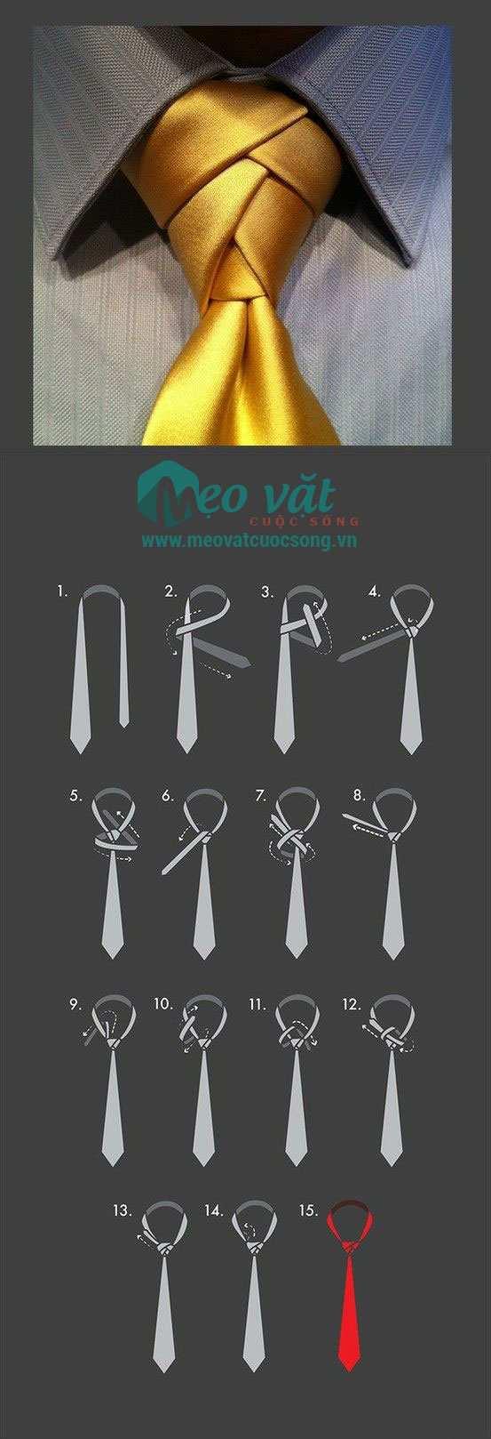 Cách thắt cà vạt (caravat) kiểu sang trọng