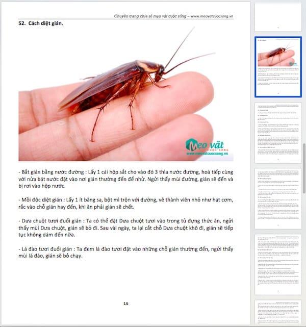 Nội dung bên trong cuốn Ebook 99 mẹo vặt dân gian ứng dụng trong cuộc sống gia đình