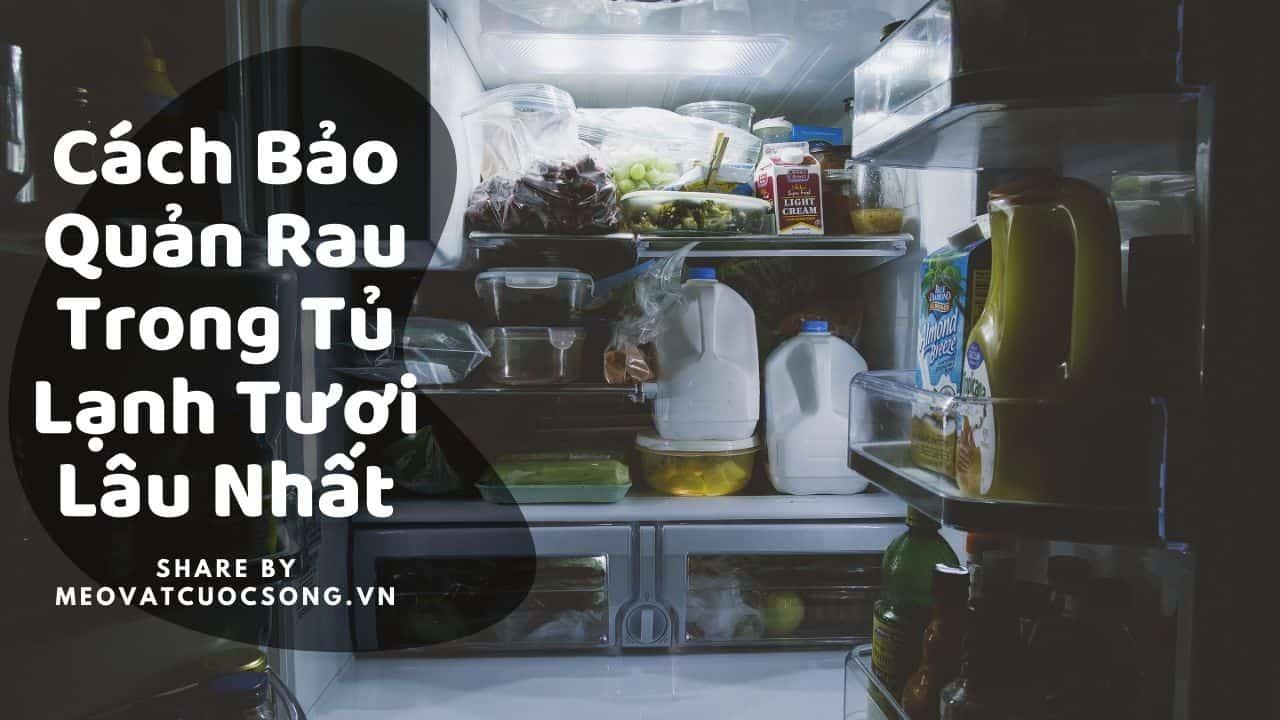 Cách bảo quản rau trong tủ lạnh tươi lâu