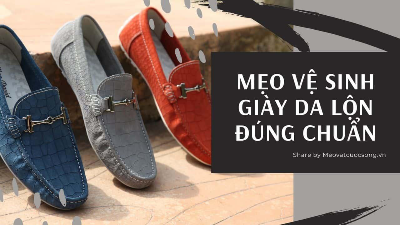 Cách vệ sinh giày da lộn đúng chuẩn