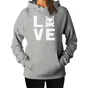cat gray sweatshirt women