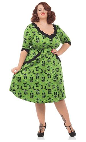 vintage retro cat dresses women
