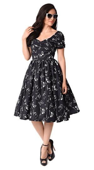 black cat dress women