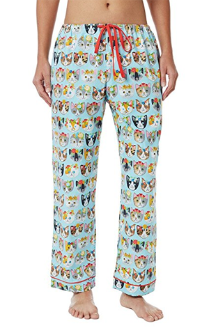 flannel cat pajamas women