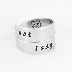 handmade cat rings