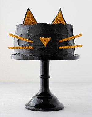 halloween cat cake