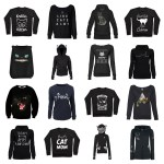 black cat sweatshirts hoodies pullowvers feature
