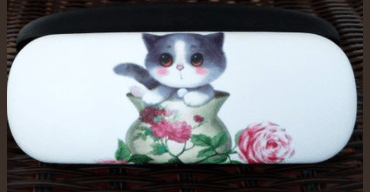 cat eyeglass sunglass cases