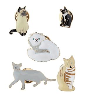 enamel cat pins