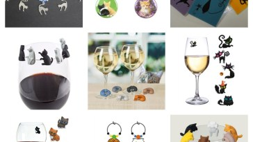 cat wine charms feature