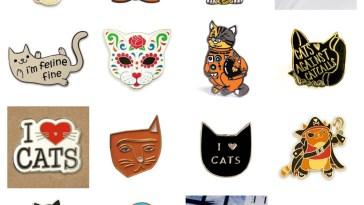 enamel cat pins feature