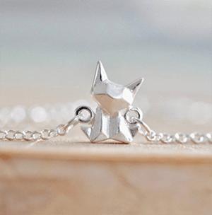 origami cat jewelry