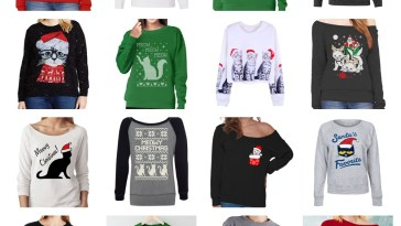 cat christmas sweatshirts women feature