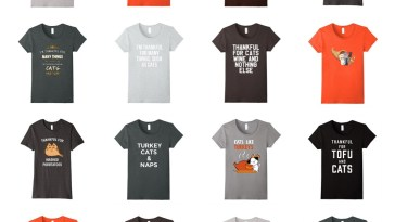 thanksgiving cat tshirts feature