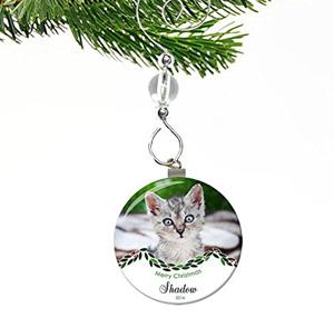 christmas cat memorial ornament